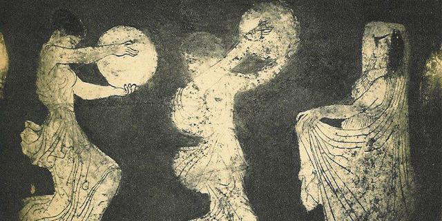 Danza Tradizionale Greca (dettaglio vaso greco 450 B.C.E.)