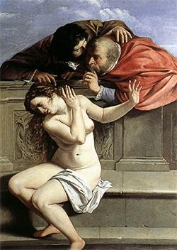 Artemisia Gentileschi, Susanna e i vecchioni