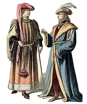 Costumi antichi, stampa d'epoca