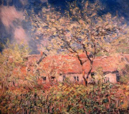 Progetto Albero Fiorito, Monet: Springtime at Giverny (1886)