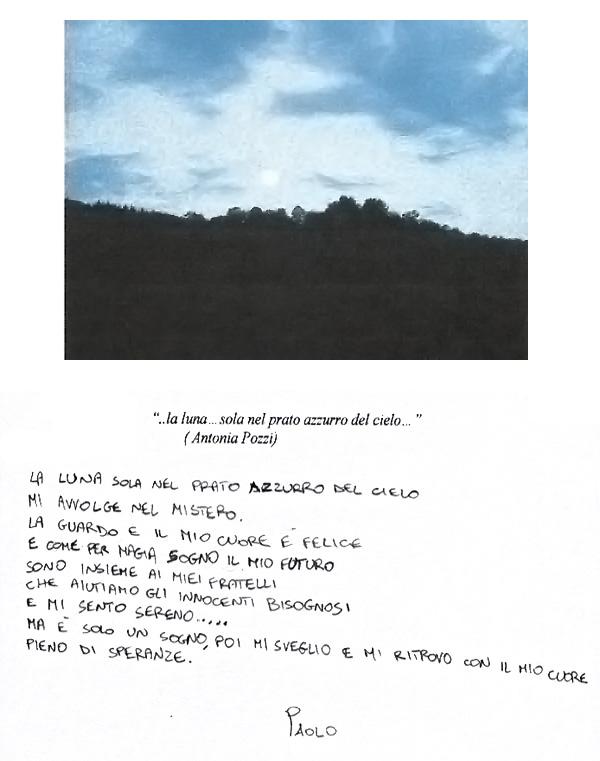 Progetto Albero Fiorito, la poesia di Paolo