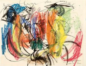 Asger Jorn - Il fiore del male (1946)