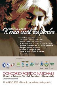 Concorso Poetico Nazionale Isabella Morra 2012, locandina