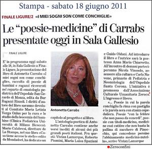 I miei sogni son come conchiglie - La Stampa 18-06-11