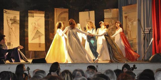 Un momento dello spettacolo Viole per Enza al Teatrino di Corte della Villa Reale, Monza