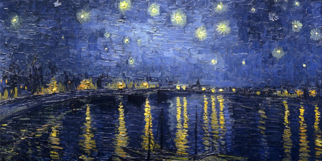 Notte stellata sul Rodano Vincent Van Gogh - Musee d'Orsay - Parigi