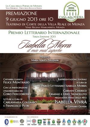 Premiazione del Concorso Poetico Nazionale Isabella Morra 2013, locandina