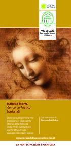 Concorso Poetico Nazionale Isabella Morra 2013, locandina