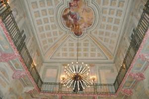 Lo splendido soffitto di Villa Mirabello, dove si tengono gli eventi di La Casa della Poesia di Monza