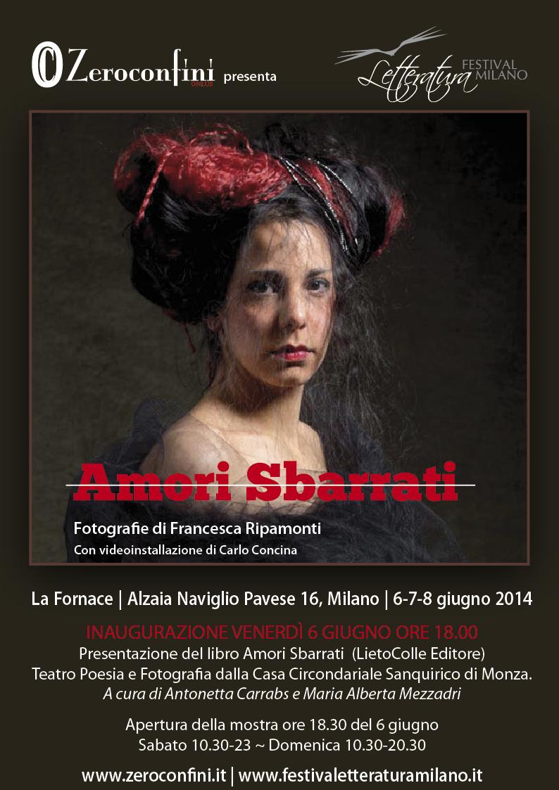 Zeroconfini Onlus Festival della Letteratura Giugno 2014 Locandina Amori Sbarrati