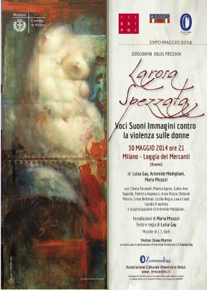 La Rosa Spezzata - Loggia dei Mercanti Milano 30 maggio 2014 - Locandina