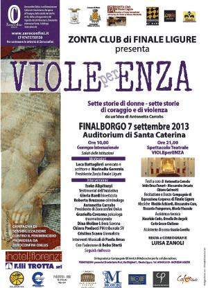 Locandina Viole per Enza Finale Ligure 7 9 2013