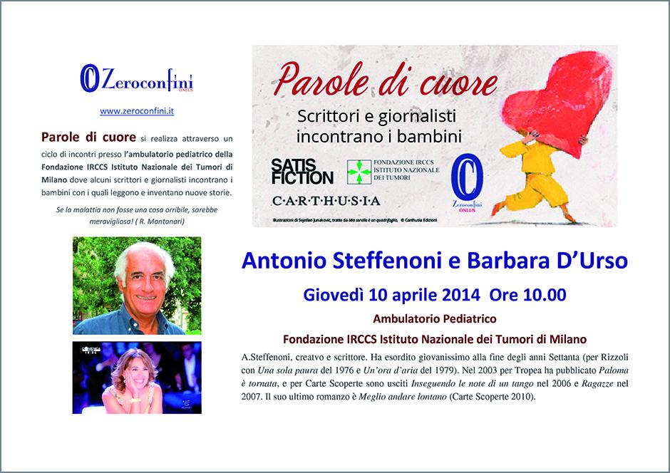 Parole di cuore 10 aprile Steffenoni D'Urso