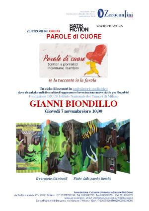 Parole di cuore Gianni Biondillo 7 novembre 2013 Pag1