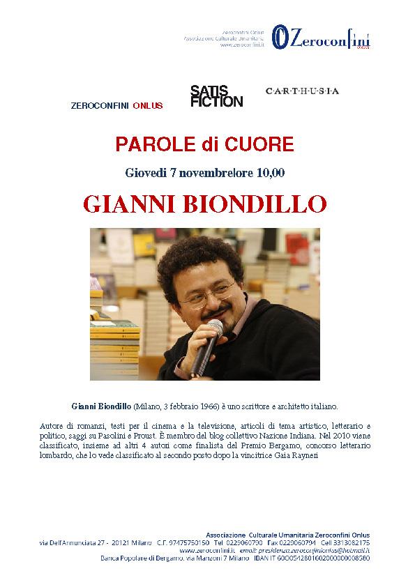 Parole di cuore Gianni Biondillo 7 novembre 2013 Pag2