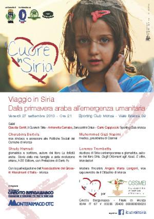 Zeroconfini e Il Cuore in Siria - Monza 27.9.2013 - locandina